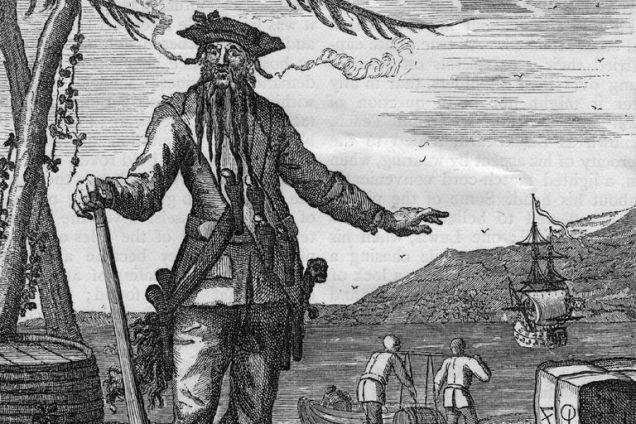 Blackbeard. Photo taken from http://www.ncpedia.org/biography/blackbeard-the-pirate